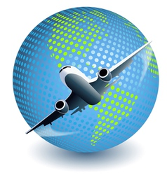 Plane globe vector