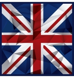 Polygonal flag background united kingdom design vector