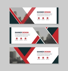 Red black triangle corporate business banner vector image