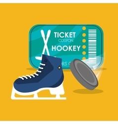 Set hockey skate puck and ticket vector