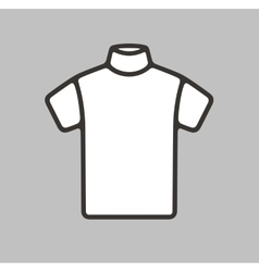 Short sleeve turtleneck icon vector image vector image