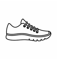 Sneakers icon outline style vector image