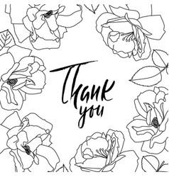 Thank you handwritten inscription hand drawn vector