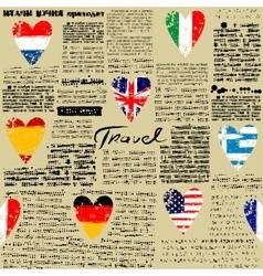 Travel newspaper vector