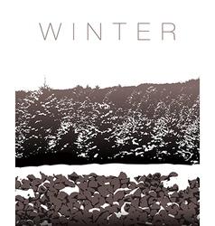 A winter landscape in sepia tones vector