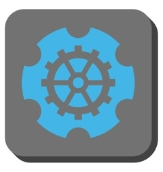 Gearwheel rounded square button vector