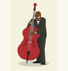 jazz music band flat with vector image