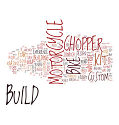 Eight reasons to build your own chopper or kit vector