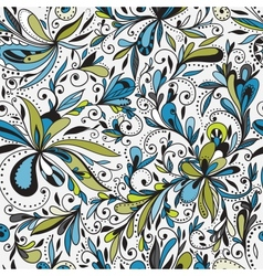 Seamless doodle floral background vector