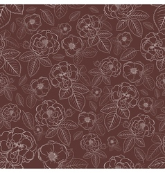 Seamless pattern of flowers vector