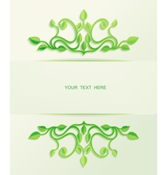 Floral green leaves with place for text vector