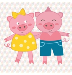 Spring pigs vector image