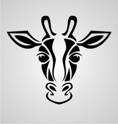 Giraffe head vector