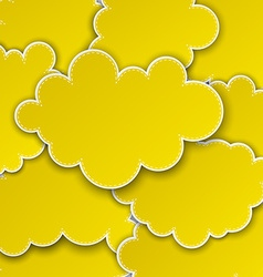 Paper yellow paper cloud background vector
