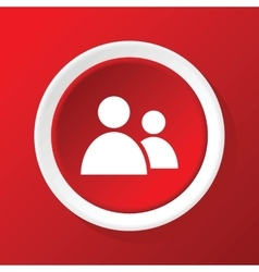 Contacts icon on red vector
