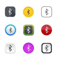 Bluetooth icons vector