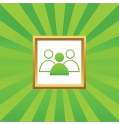 Group leader picture icon vector