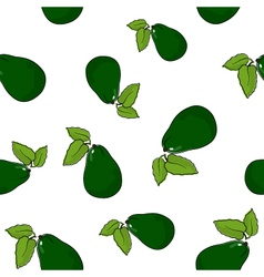 Seamless pattern of avocado vector