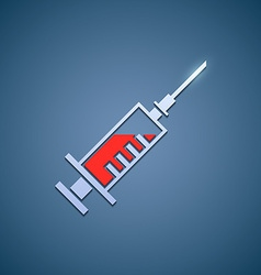 Logo medical syringe vector