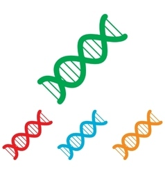 The dna sign colorfull set vector