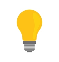 Light bulb icon Save energy design vector image
