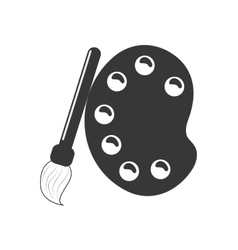 Palette icon paint design graphic vector