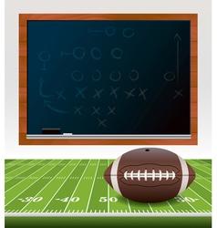 American Football Chalkboard vector image vector image
