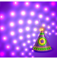Attractive background of diwali vector image vector image