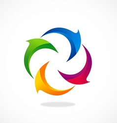 circle curl 2D abstract logo vector image vector image
