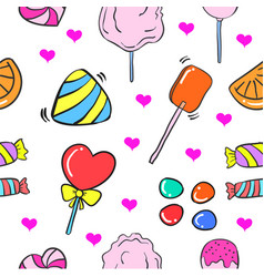 collection stock of candy doodle style vector image vector image