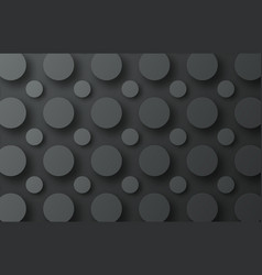 design of a black metal background with floating vector image vector image