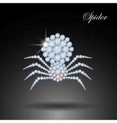 Diamond spider Halloween symbolDecoration vector image