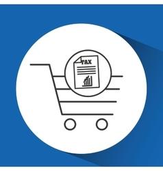E-commerce cart shop taxes icon vector