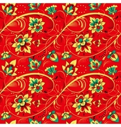 Floral seamless pattern in russian tradition style vector image vector image