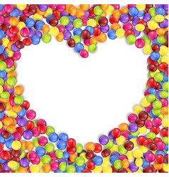 frame of love colored candies vector image