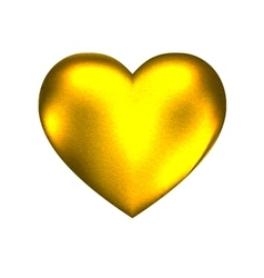 golden hard heart vector image vector image
