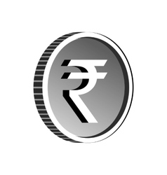 Indian rupee sign icon simple style vector