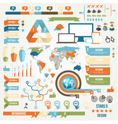 Infographic Elements and Communication Concept vector image vector image