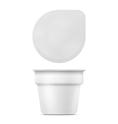 Instant mashed potato container template vector