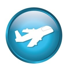 Jet airplane symbol vector