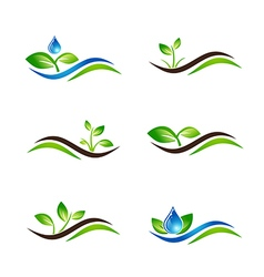 Landscape Agricultural Icon or Logo vector image vector image