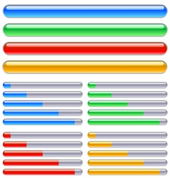 loading progress bars vector image vector image