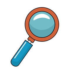 Magnifying glass with with glitters vector