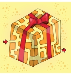Maze game for children funny gift vector image vector image
