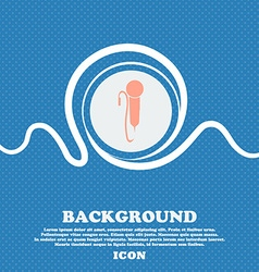 microphone sign Blue and white abstract background vector image