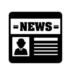 Newspaper report news vector