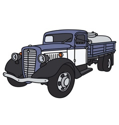 Old dairy tank truck vector image vector image