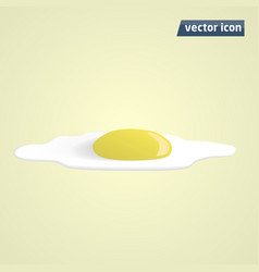 omelette flat shadow vector image