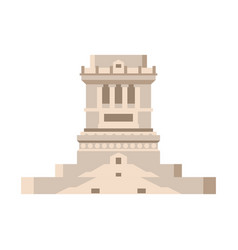 pedestal of statue of liberty empty isolated vector image vector image