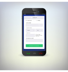 Phone with mobile wallet vector